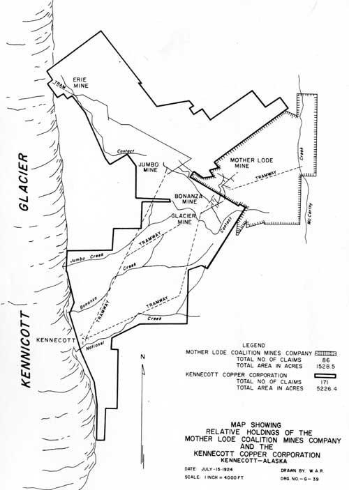 Kennecott Alaska Walking Tour Map