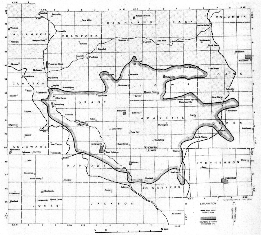 map of the upper mississippi valley zinc lead mining district wi il ia after heyl et al usgs 1959 click on images to enlarge